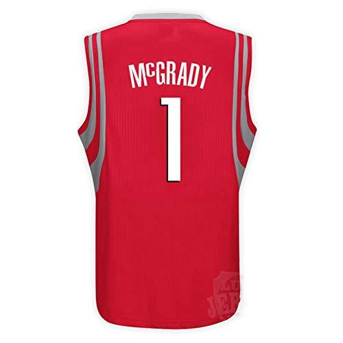 FOKN Mesh Pallacanestro Swingman Jersey Maniche Sport Canotta Jersey degli Uomini di Basket Tracy McGrady Uomo (Color : R, Size : S)