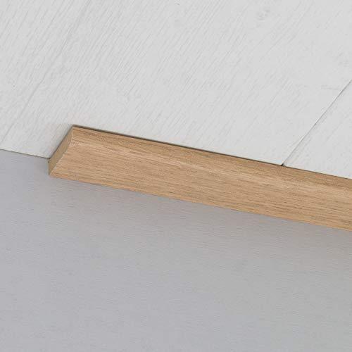 Abdeckleiste Abschlussleiste Sockelleiste Rundprofil aus MDF in Eiche 2600 x 6 x 25 mm