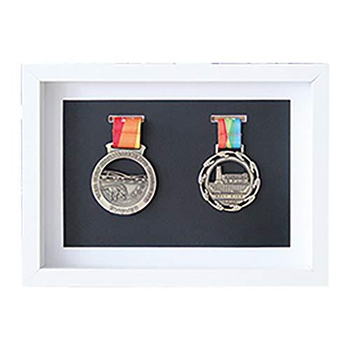 ZZPP Rahmen zur Anzeige von Medaillen,Sportmedaille 3D-Box-Fotorahmen,3D-Deep-Box-Rahmen zur Anzeige von Kriegs- / Militär- / Sportmedaillen (Schwarzer Hintergrund)