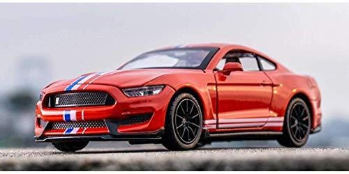 Zixin Función de Coches de Juguete Volver Fuerza Función de Las Luces de Sonido 01:32 Ford Mustang GT350 de aleación Modelo de Coche for niños (Color: Rojo) (Color: Rojo) (Color : Red )