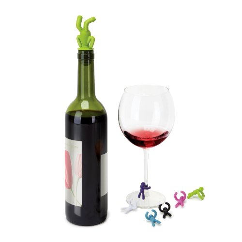 Umbra Drinking Buddy Wine Stopper and Charms