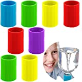 PAGOW 8pcs Tornado Bottle Tube Connector, Tornado in A Bottle, Plastic Tornado Vortex Connector Cyclone Tube for Kids Students Scientific Class Experiment Test