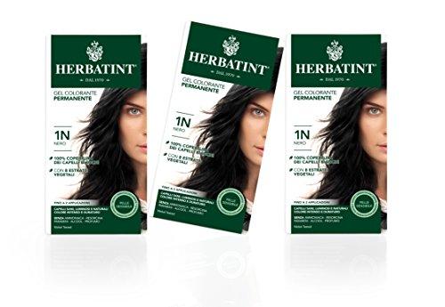 Herbatint Gel Colorante Permanente 1N Nero, 3 x 150 ml