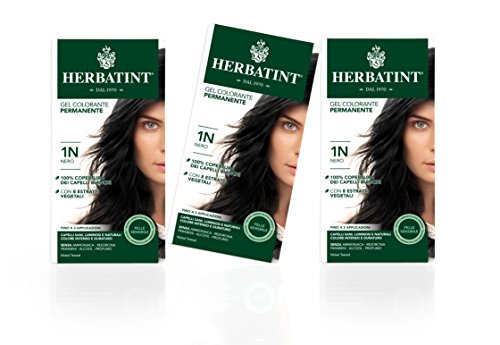 Herbatint Haarfarbe Gel 1N Schwarz 3x150ml