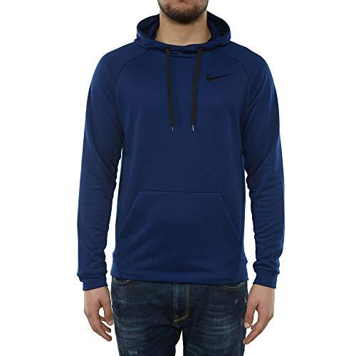 Nike M NK Dry Hoodie PO Fleece, Blue Void/Black, Large