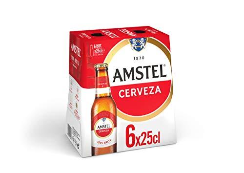 Amstel Cerveza - Pack de 6 botellas x 250 ml (Total: 1.5 L)