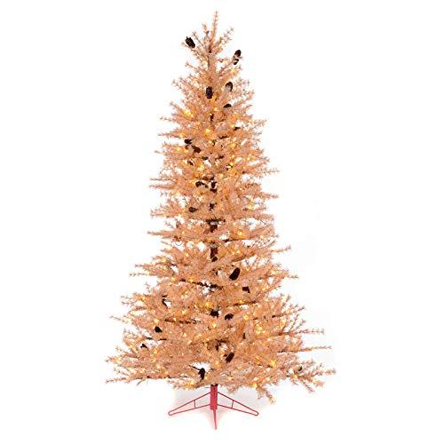 Holyart Albero di Natale Rosa Antico 230 cm pigne 400 luci LED
