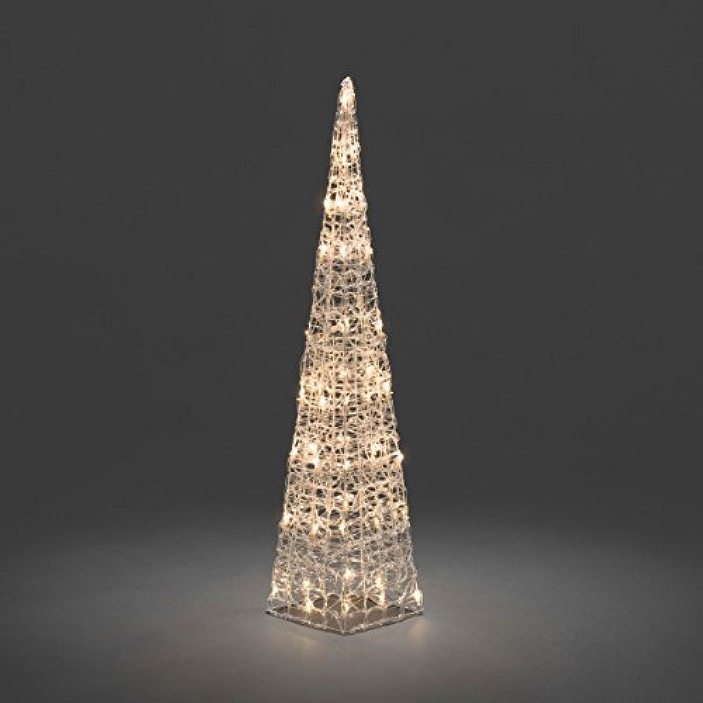 ' Konstsmide 6106–103–Deko LED Acryl Pyramide -innen (IP20) VDE zertifiziert 24V Innentrafo 48warm weie Dioden transparentes Kabel