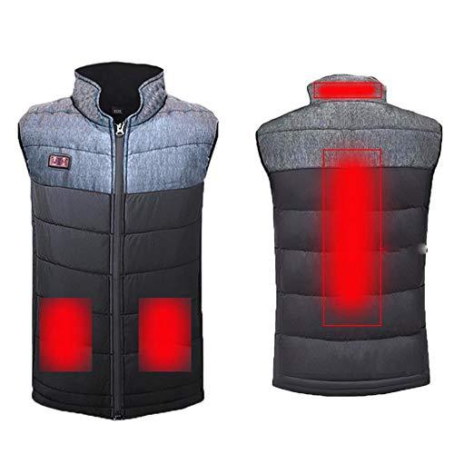 Warm vest voor dames en heren, USB opladen, fietsen in de open lucht, vissen, warmte-vest.