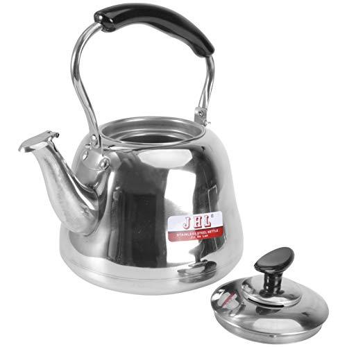 DOITOOL Tee Wasserkocher Herd Top 2 Quart Pfeifen Tee Wasserkocher Teekanne Edelstahl Teekanne Heizung Wasser Behälter mit Griff für Hause Gas Herd