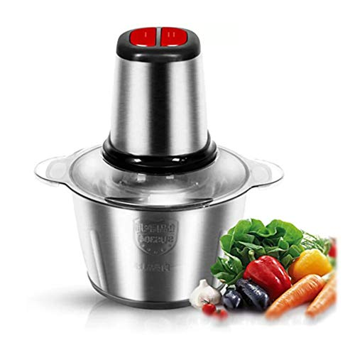 Elektrische hakmolen van roestvrij staal, stille werking met hoge prestaties voor vlees, groenten, fruit, uien en noten, keukenmachine cadeau 3L