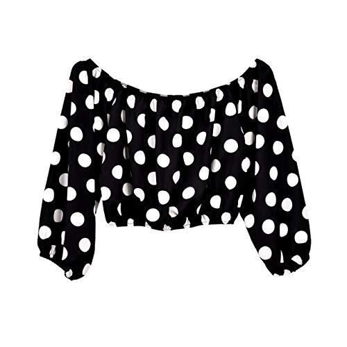 ALEIGEI Dames Top Kleding Zomer 2019 Slash Dot Blouse Vrouw Tops Off Schouder Top Streetwear Shirts