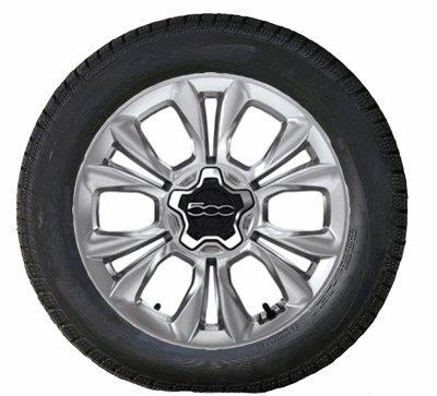 Fiat - Juego de ruedas para Fiat 500X Toyo (aluminio, 17''), color plateado