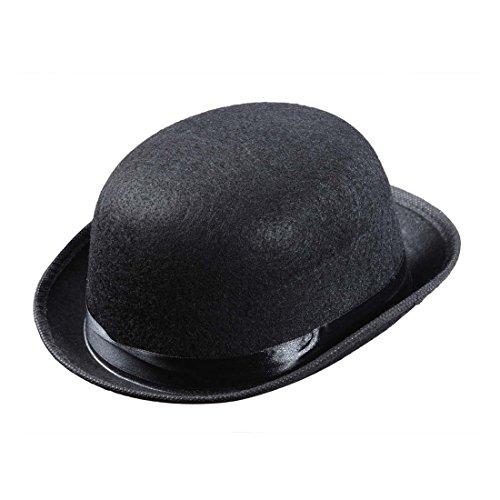 Amakando Sombrero de meln para nios, sombrero de chaplin, sombrero de fieltro, color negro, accesorio para disfraz de carnaval de los aos 20