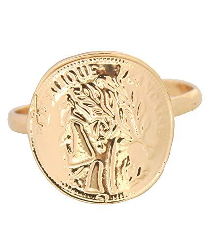 Musthaves Damen Ring mit römischer Münze - Metall - Einheitsgröße (Gold)