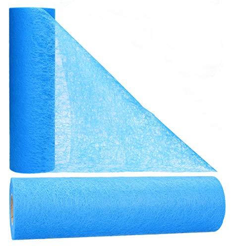 AmaCasa Vlies Tischläufer 30cm/25 Meter Tischband Hochzeit Kommunion (30cm, Marineblau)