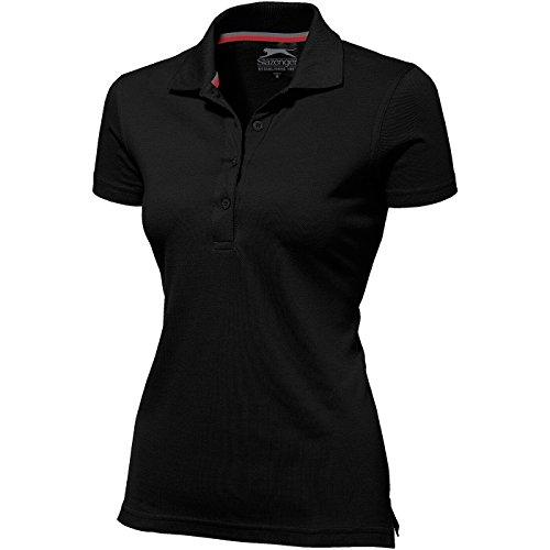 Slazenger Advantage Damen-Poloshirt, kurzärmlig - Schwarz, L