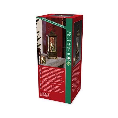 Konstsmide 2888-000 LED Schneelaterne mit Weihnachtsmann, wassergefüllt / für Innen (IP20) /  Batteriebetrieben: 3xAA 1.5V (exkl.) /1 warm Braun Diode