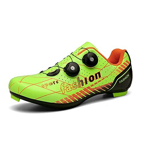 Suiyue Tech. Nuevos Zapatos De Ciclismo De Carretera Zapatos De Bicicleta De Carretera para Hombre Zapatillas De Deporte Transpirables Profesionales Ultraligeras con Cierre Automático