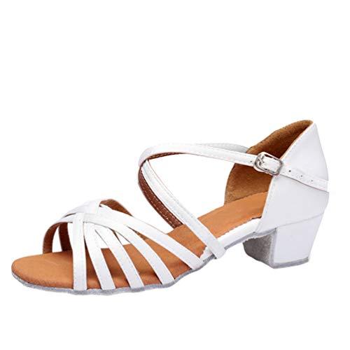 LaoZan Mujer Zapatos de Baile Latino Salón de Tacón Niña Zapatos de...
