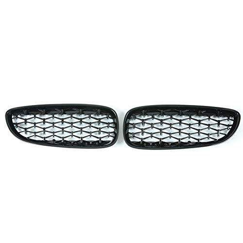 Griglia per auto Mesh Una coppia Diamond Style Car Bumper Bumper Griglie rene Griglia for BMW Z4 E89 2009-2016 Accessori auto Decorazione styling auto Per le auto ( Color : Gloss Black )