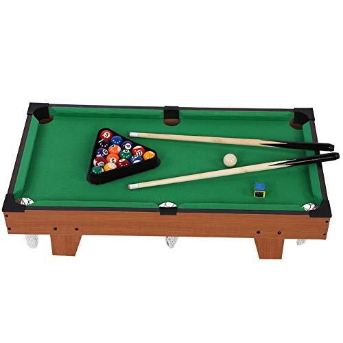 Miniatur-Billardtisch, Tischbillard Multi Spieltisch Billardtisch Multigame Tisch Mini Pool Billardtisch mit 2 Queues, Kugeln, Dreieck und Kreide, 69 * 36,5 * 22,5 cm