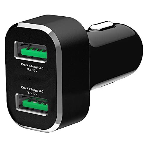 RAM Mount RAM-GDS-CHARGE-USB2QCCIG - Cargador (Auto, Encendedor de cigarrillos, 12 V, Negro, Plata)