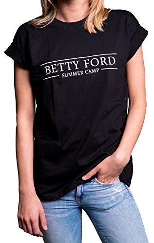 Lustige Geschenke Frauen - Alkohol T-Shirt mit Spruch schwarz Humor - Übergröße Oversize Longshirt XXL