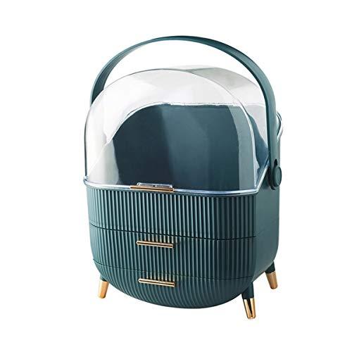 Maquillage des boîtes de rangement Chambre salle de bain meubles armoire armoire lumière luxe cosmétique boîte de rangement pour meuble-lavabo et comptoir ( Couleur : Vert , Size : 25x18.5x37cm )