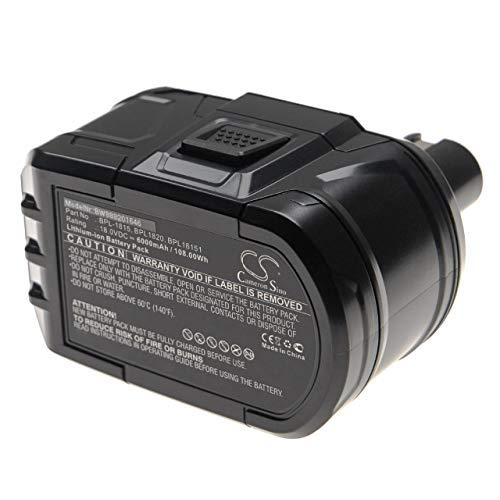 vhbw Batería Recargable Compatible con Ryobi P2060, P208B, P210, P2100, P2102, P2105, P211, P220 Herramientas eléctricas (6000 mAh Li-Ion 18 V)