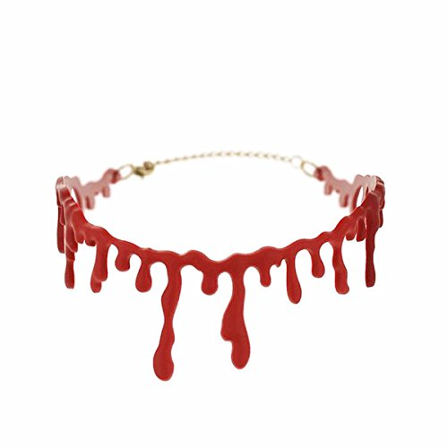 Aohang-Halskette in Form einer blutigen Narbe mit tropfendem Blut, Gothic-Look, Halloween, XL127-1@#AO, 1 pcs