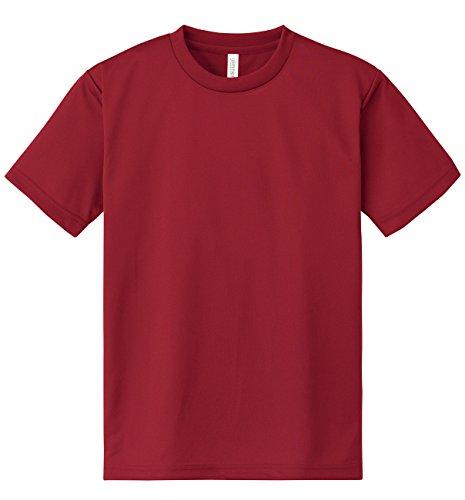 グリマー Tシャツ UVカット・吸汗速乾 ドライメッシュTシャツ4.4oz [メンズ] バーガンディ L