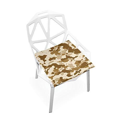Cojín de espuma viscoelástica para sillas de cocina, suave, lavable, antipolvo, para silla de comedor, 40,6 x 40,6 cm (camuflaje) 2030170