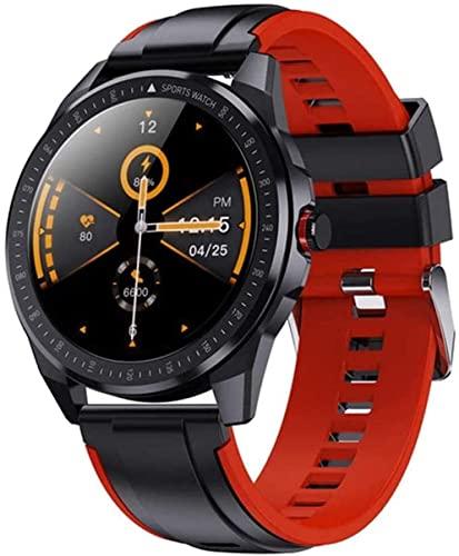 30M Deep IP68 Impermeable 60 días Tiempo de espera Super Slim Metal Cuerpo Smart Watch Frecuencia Cardíaca Presión Arterial Música Reloj Inteligente Hombres (Color: E) (E)