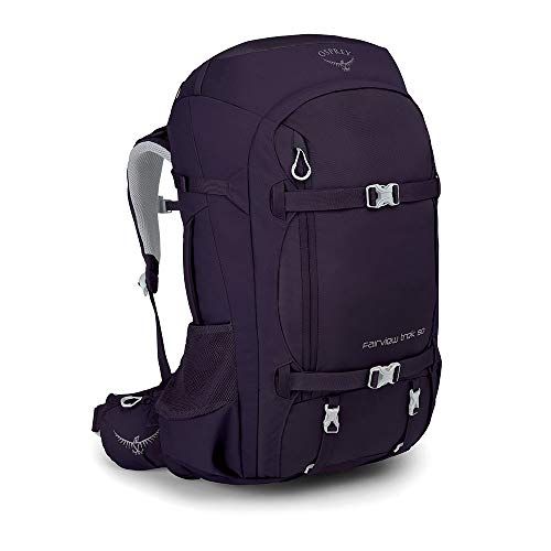 Osprey Fairview Trek 50, Zaino da Viaggio per Donna - Amulet Purple, 62 Centimeters