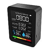 Detector de calidad del aire portátil Medidor de CO2 Medidor de temperatura digital Tester de humedad Detector de dióxido de carbono TVOC Formaldeide HCHO
