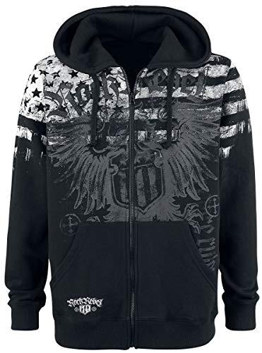 Rock Rebel by EMP Mask of Sanity Homme Sweat-Shirt zippé à Capuche Noir 4XL