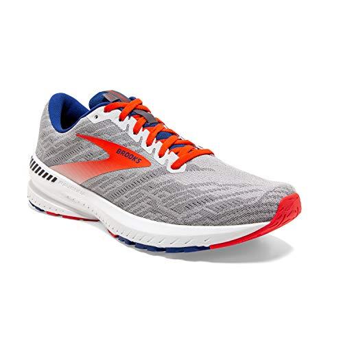 Brooks Mens Ravenna 11 Running Shoe - Grey/Cherry/Mazarine - D - 11