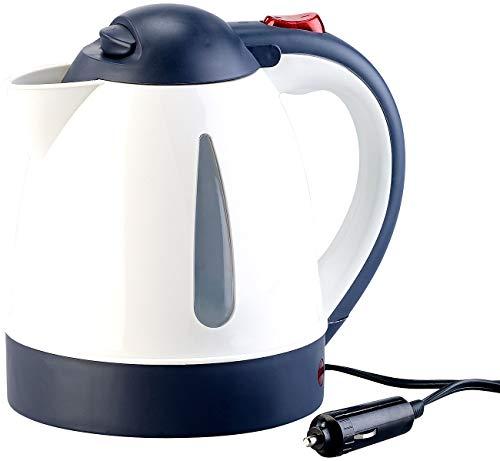 Lescars Wasserkocher 24 Volt: Lkw- und Kfz-Wasserkocher für 24-V-Anschluss, 240 Watt, 800 ml (Wasserkocher 24V)