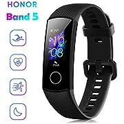 """Honor Band 5 Fitness Tracker Smartwatch Wasserdicht 50M 0,95"""" AMOLED Farbdisplay Schrittzähler und Nachrichtenbenachrichtigung Smartband Schwarz"""