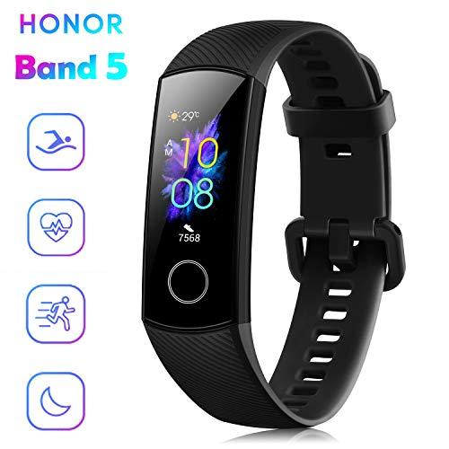"""HONOR Band 5 Fitness Tracker Smartwatch Impermeabile 50M 0,95\"""" Schermo AMOLED a Colori pedometro e notifiche di messaggistica Smartband (Nero)"""
