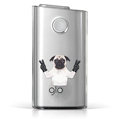 glo グロー グロウ 専用 クリアケース クリアカバー タバコ ケース カバー 透明 ハードケース カバー 収納 デザイン ポリカーボネートユニーク アニマル 動物 犬 写真 006895