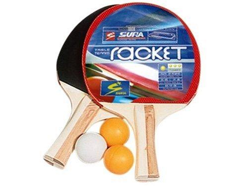 Partner - Jeu de Plein Air - 2 raquettes Ping-Pong lisse/picot et 3 balles