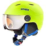 uvex Unisex Jugend, junior visor pro Skihelm, neon yellow mat, 54-56 cm