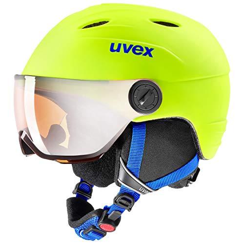 uvex Unisex Jugend, junior visor pro Skihelm, neon yellow mat, 52-54 cm