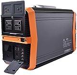 Generador Portátil Generador Inverter Generador portátil 1503WW Power Station Fuente de alimentación de emergencia con inversor DC / CA, para generador solar Viajes de camping al aire libre Copia de s