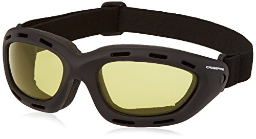 Crossfire 91353AF Element Safety Goggles Yellow Anti-fog Lens - Frame