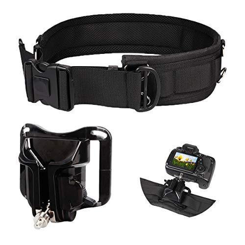 Cinturón de la Cámara Hebilla,Qiundar Clip de Cinturón de Cámara y Cinturón Táctico Cinturón de Fotografía para Viajes Deporte Ciclismo Senderismo Entrenamiento de Campo