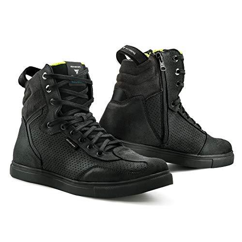 SHIMA Rebel WP, waterdichte motorschoenen Urban heren motorlaarzen stad sneakers zwart STADT, TOURISMUS 42 EU zwart