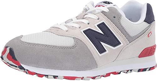 New Balance Unisex-Kinder 574v2 Core velcro Sneaker, Grau (Grey), 21 EU